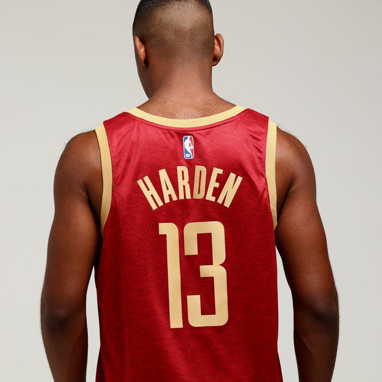 b1e49576b Nike Houston Rockets James Harden  13 City Edition Swingman NBA Jersey  Crimson