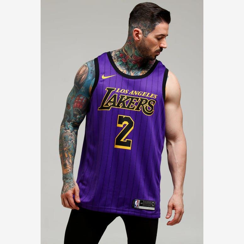 5dda79974 Nike Los Angeles Lakers Lonzo Ball  2 City Edition Swingman NBA Jersey –  Culture Kings