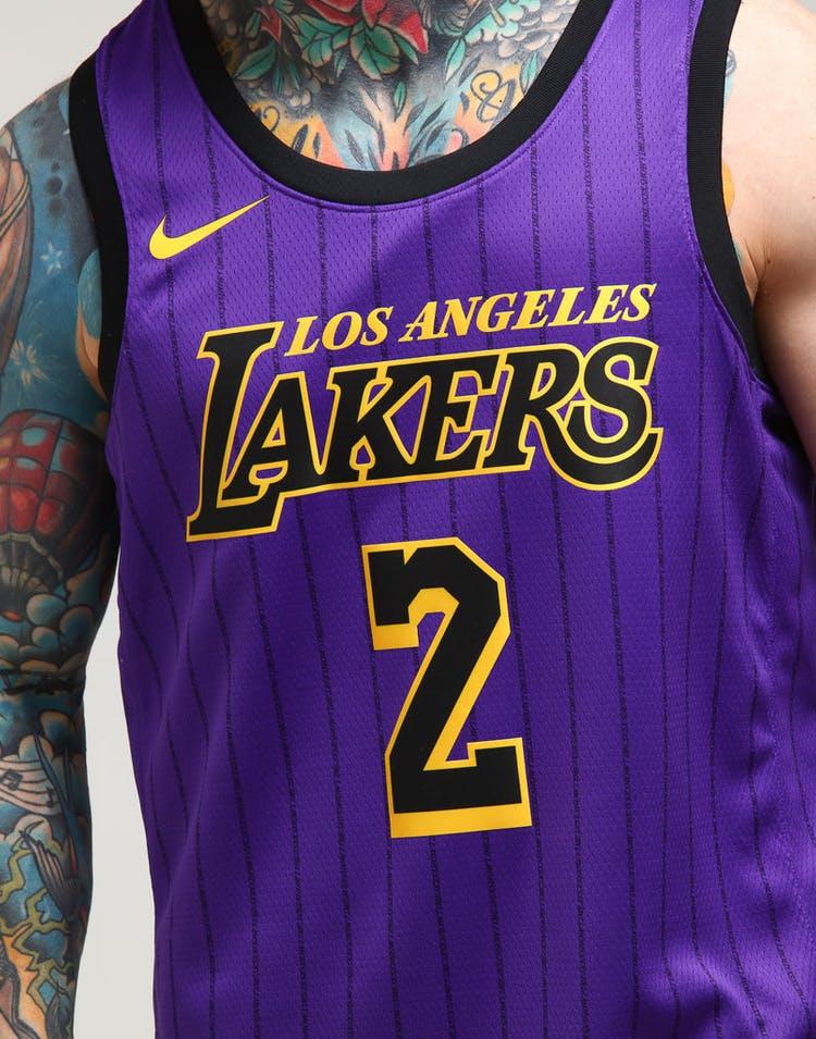3b60093ed Nike Los Angeles Lakers Lonzo Ball  2 City Edition Swingman NBA Jersey  18  Purple