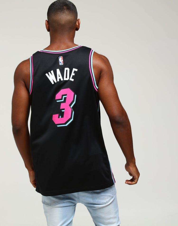 finest selection 6956d eda0e Nike Miami Heat Dwayne Wade  3 City Edition Swingman NBA Jersey Black
