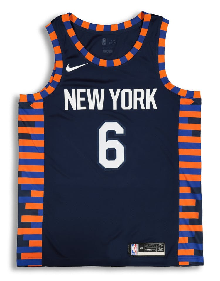 separation shoes ea823 b9917 Nike New York Knicks Kristaps Porziņģis #6 City Edition Swingman NBA Jersey  Navy