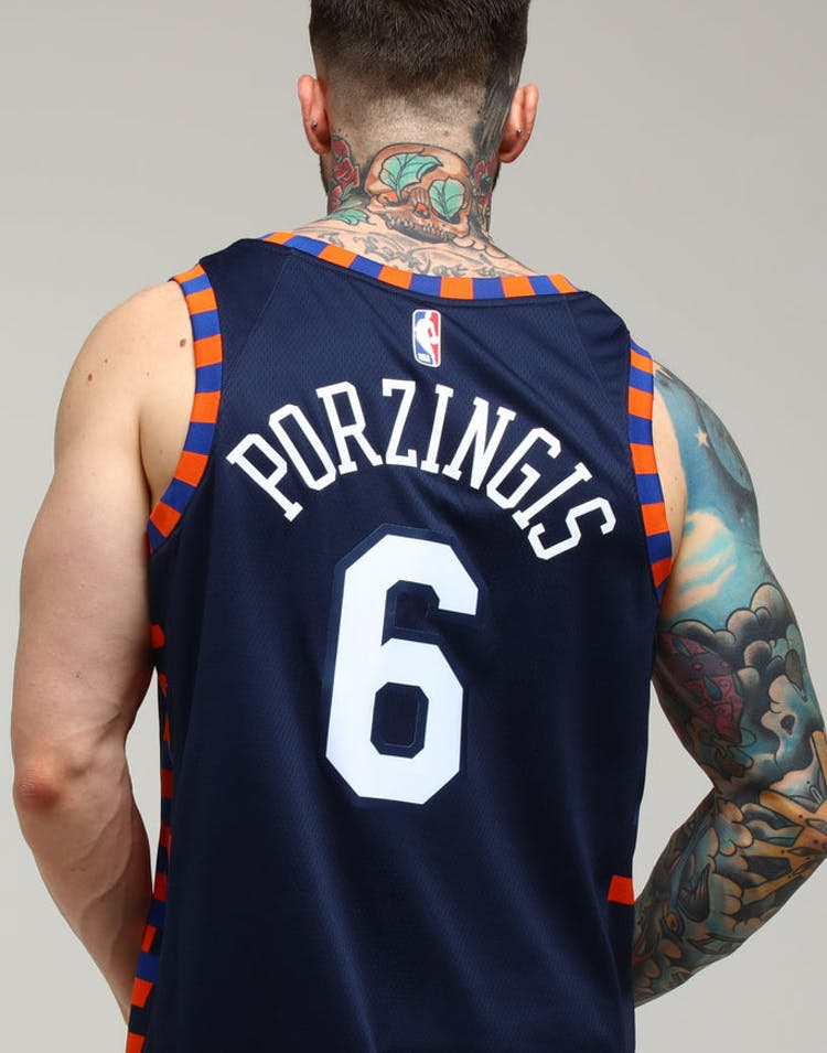 be08d5161 Nike New York Knicks Kristaps Porziņģis  6 City Edition Swingman NBA J –  Culture Kings