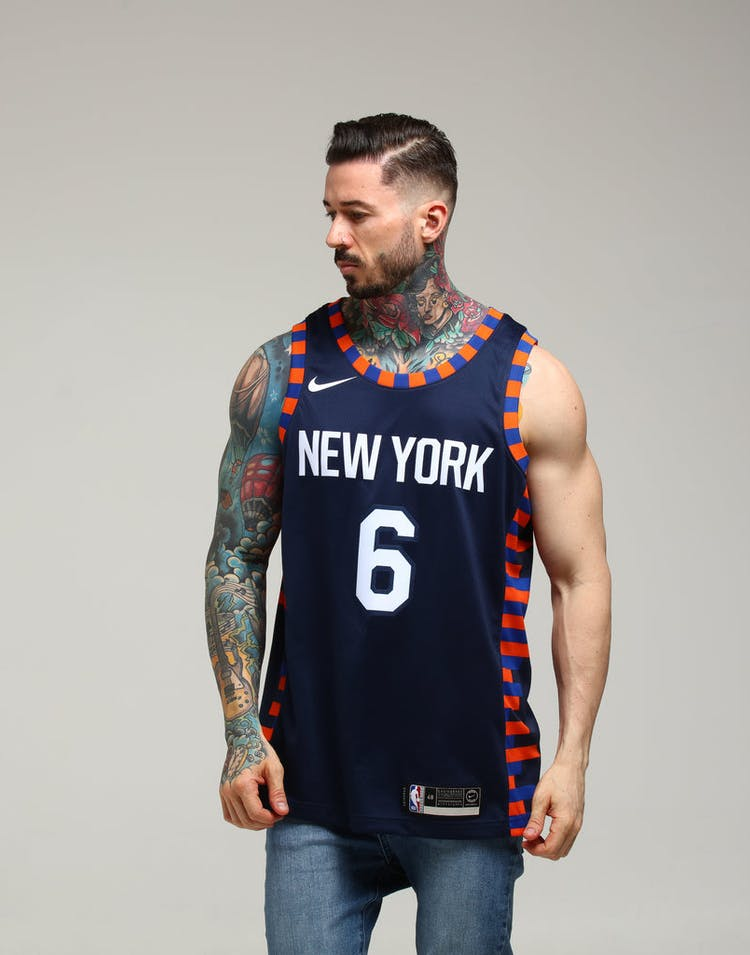 separation shoes c4a6f 1e959 Nike New York Knicks Kristaps Porziņģis #6 City Edition Swingman NBA Jersey  Navy