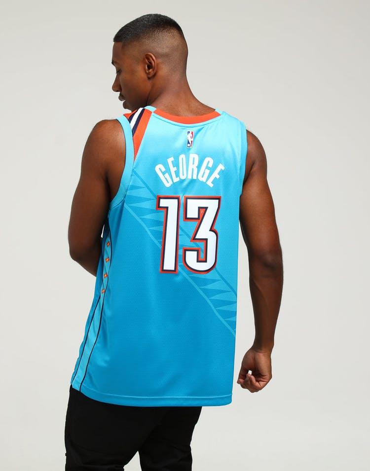 best service c1435 a6b09 Nike Oklahoma City Thunder Paul George #13 City Edition Swingman NBA Jersey  Blue