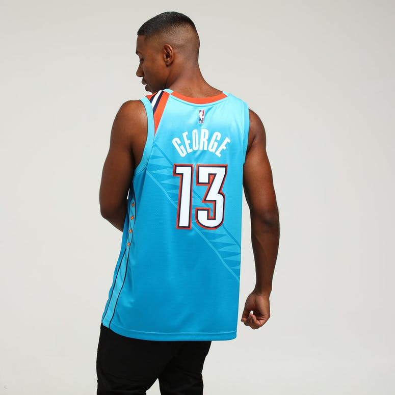 abbd2c2c0dcd Nike Oklahoma City Thunder Paul George  13 City Edition Swingman NBA Jersey  Blue
