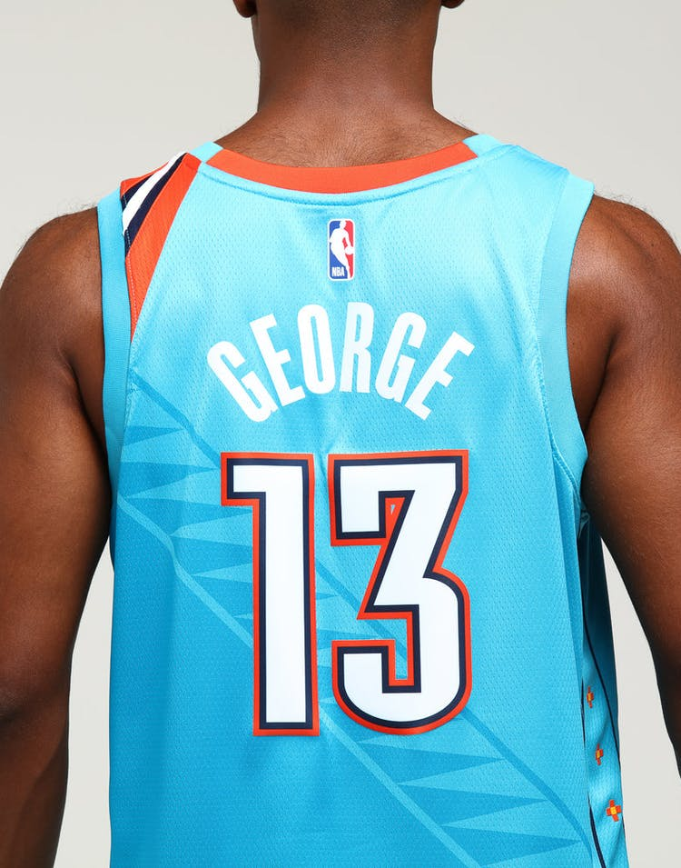 best service be1a6 db9cd Nike Oklahoma City Thunder Paul George #13 City Edition Swingman NBA Jersey  Blue