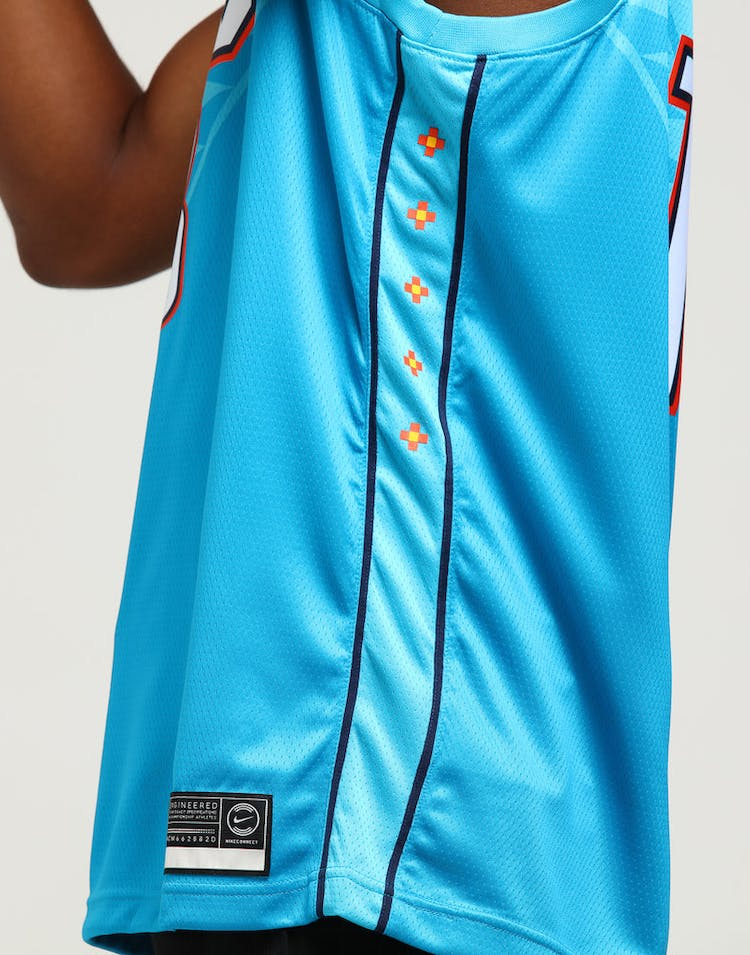 best service 22744 e1b83 Nike Oklahoma City Thunder Paul George #13 City Edition Swingman NBA Jersey  Blue