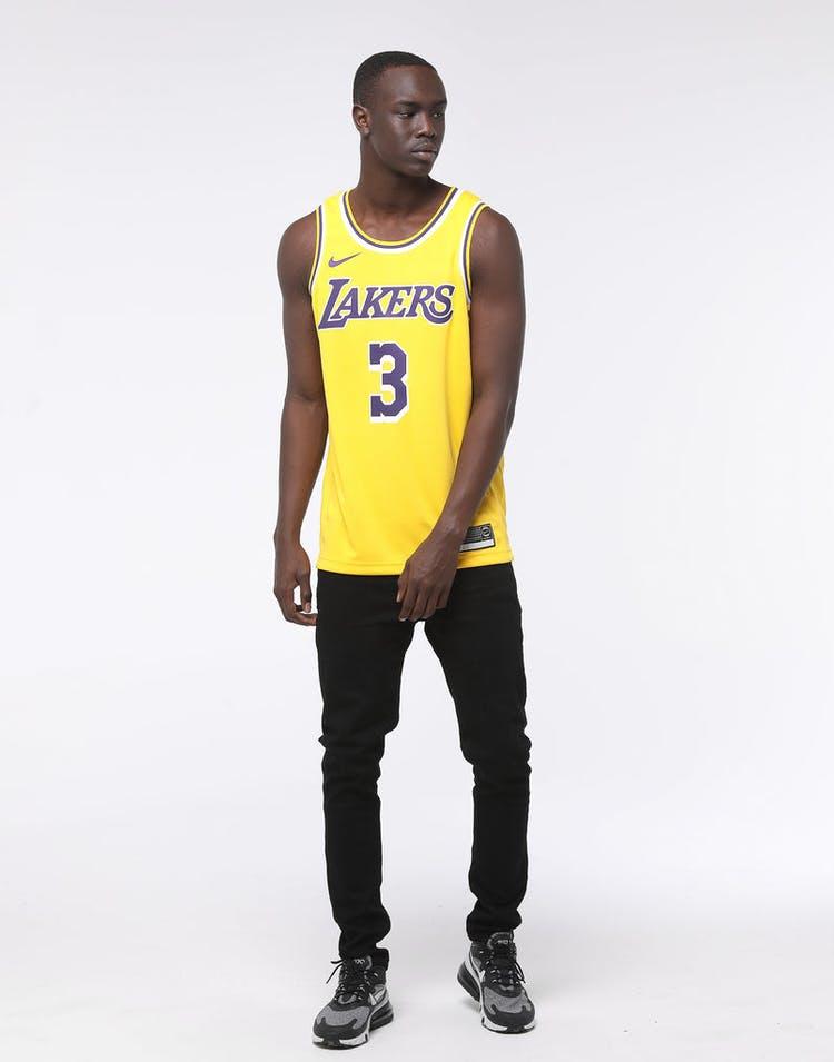 Nike Los Angeles Lakers Anthony Davis 3 Icon Edition Swingman Jersey Amarillo Purple