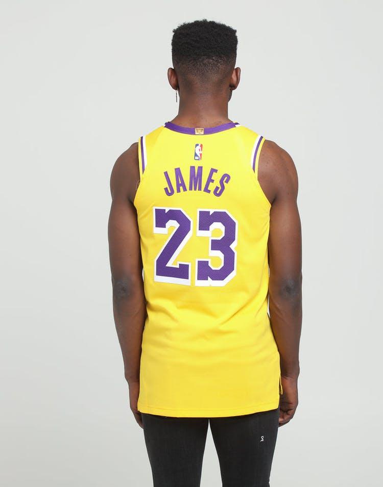 sports shoes 093a5 ae8e2 Nike Los Angeles Lakers LeBron James #23 Icon Edition Swingman Jersey  Amarillo