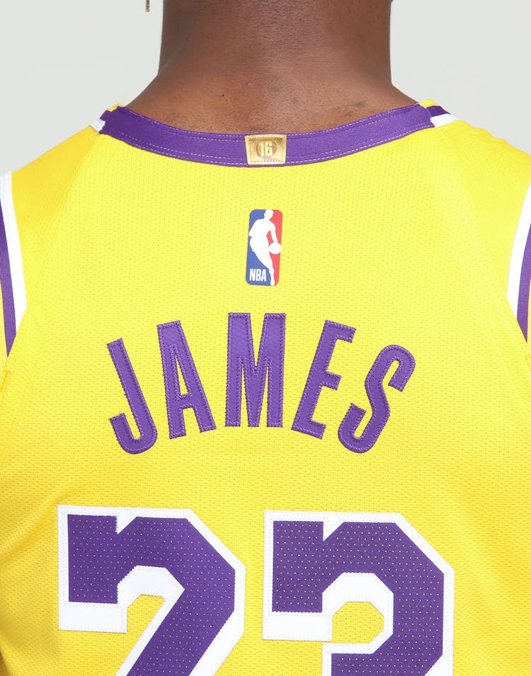 sports shoes be698 5bdf0 Nike Los Angeles Lakers LeBron James #23 Icon Edition Swingman Jersey  Amarillo