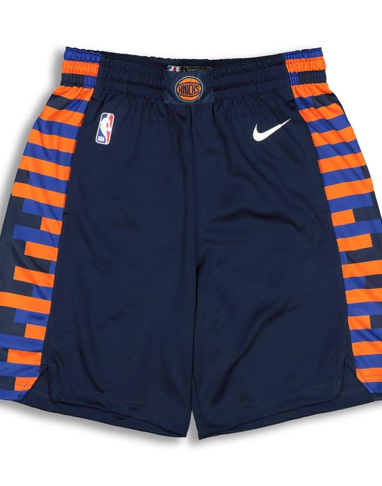 los angeles e0c0f 56951 Nike New York Knicks City Edition Swingman NBA Short '18 Navy/White