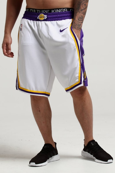 Nike Los Angeles Lakers Swingman Shorts Home White/Purple