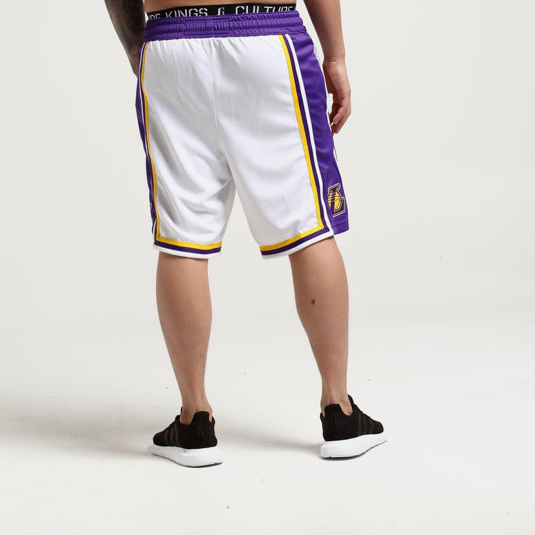 Nike Los Angeles Lakers Swingman Shorts Home White Purple – Culture Kings d481ce5fb