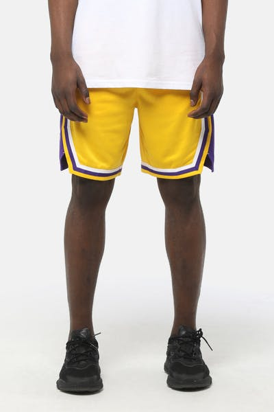 Nike Los Angeles Lakers Icon Edition Swingman Short Amarillo/Purple/White