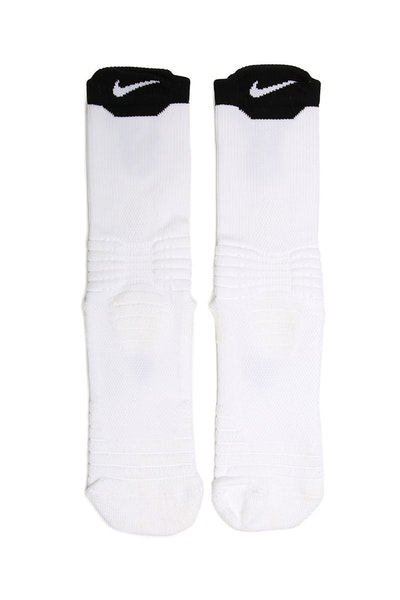 Nike Elite Versatility Mid Basketball Sock White/Black