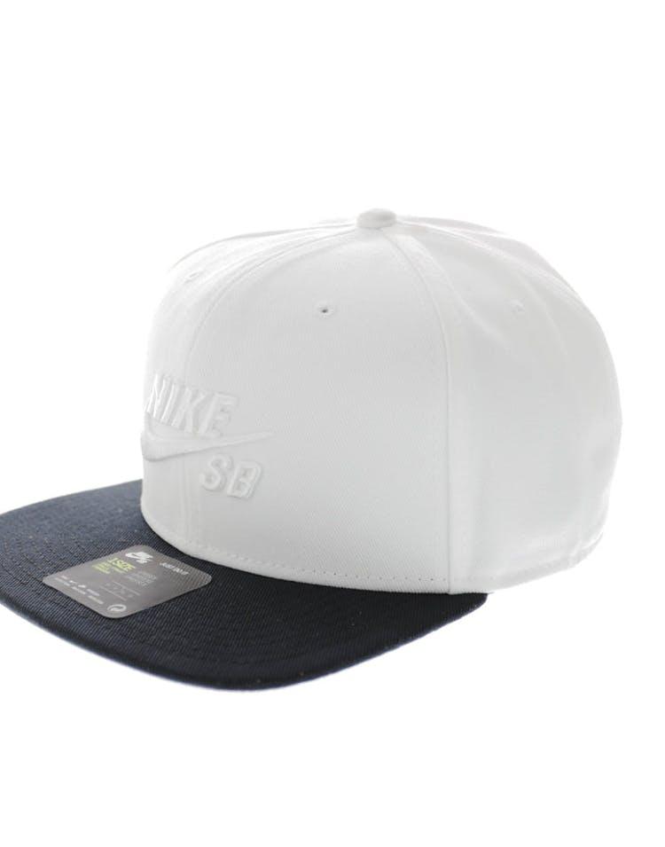 66b17c44760d5 Nike SB Icon Snapback White black – Culture Kings