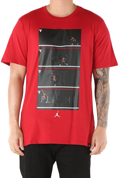 Jordan The Art Of Flight Tee Red