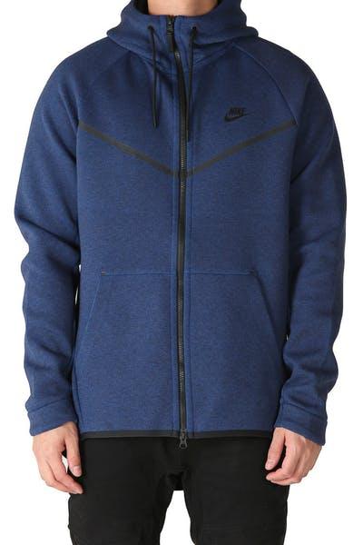 790bbb9eba74 Nike Tech Fleece Windrunner Hood Navy Black