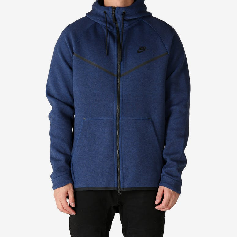 251733c35ad7 Nike Tech Fleece Windrunner Hood Navy Black – Culture Kings