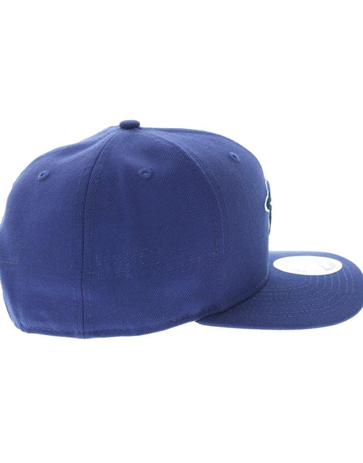 sale retailer ec7e5 c192c New Era Toronto Blue Jays 950 Original Fit Precurve Snapback Dark Royal