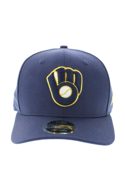 New Era Milwaukee Brewers 950 Original Fit Precurve Snapback Light Navy