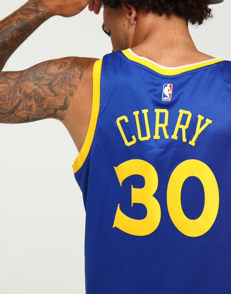 Stephen Curry #30 Golden State Warriors Nike Icon Edition Authentic Jersey Blue/White/Yellow