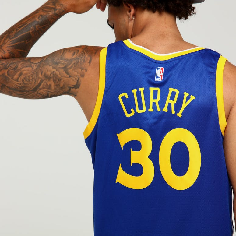 75f98f629 Stephen Curry  30 Golden State Warriors Nike Icon Edition Authentic Jersey  Blue White