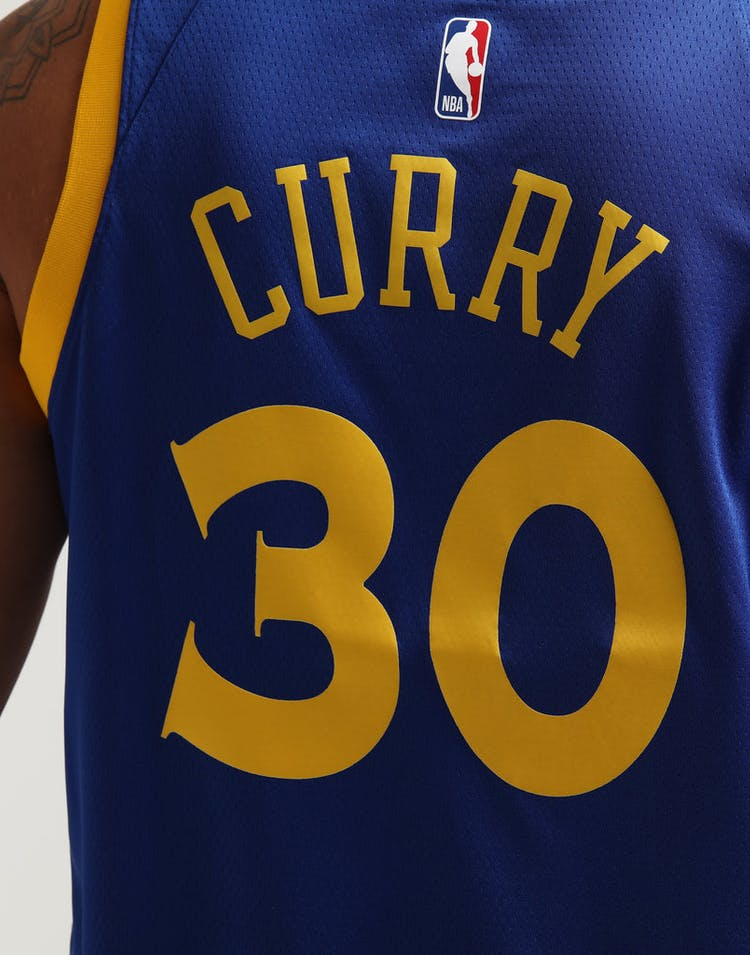 72d8a1730a6 Stephen Curry #30 Golden State Warriors Nike Icon Edition Swingman Jersey  Blue/White/