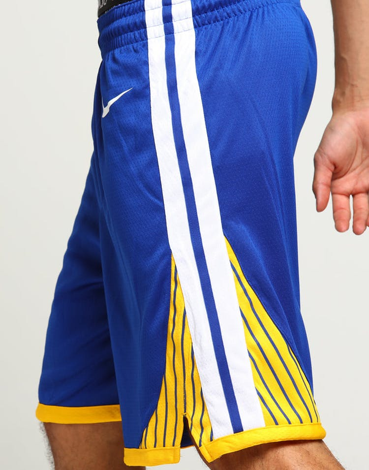 best service 5787d e4716 Golden State Warriors Nike Icon Edition Swingman Shorts Blue White Yel –  Culture Kings