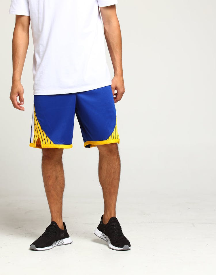 online store 6d745 822e0 Golden State Warriors Nike Icon Edition Swingman Shorts Blue White Yellow