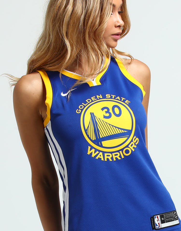 pretty nice c826e dd3ed Nike Women's Golden State Warriors Stephen Curry #30 Icon Edition NBA  Jersey Blue/White/Yellow