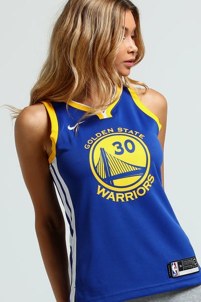 Nike Women s Golden State Warriors Stephen Curry  30 Icon Edition NBA Jersey  Blue White 38967488c