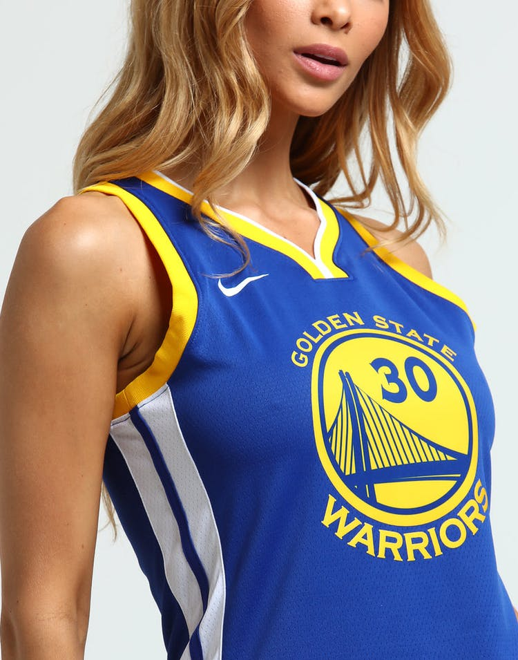 pretty nice 8f99a de2bf Nike Women's Golden State Warriors Stephen Curry #30 Icon Edition NBA  Jersey Blue/White/Yellow