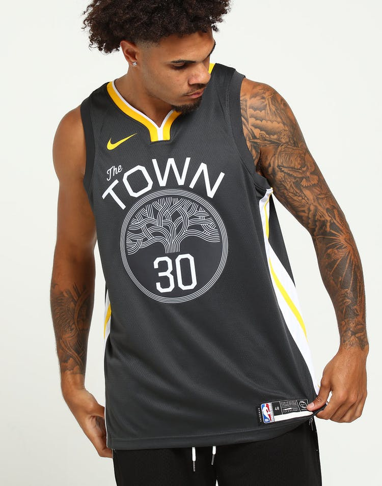 7cd4bd68 Nike Golden State Warriors #30 Stephen Curry Statement Edition Swingman  Jersey Grey/White/