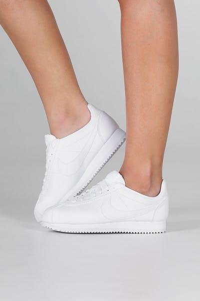 new product e2801 cfddd Nike Women s Classic Cortez White White