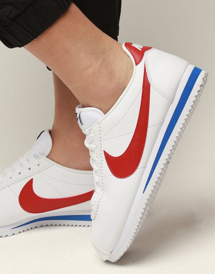 new styles f5ebb 6c160 Nike Women s Classic Cortez Leather White Red Royal – Culture Kings