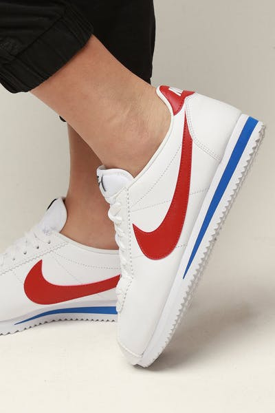 a1fdcdaf6d72 Nike Women s Classic Cortez Leather White Red Royal