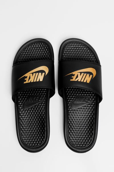 "Nike Benassi ""Just Do It"" Black/Gold"