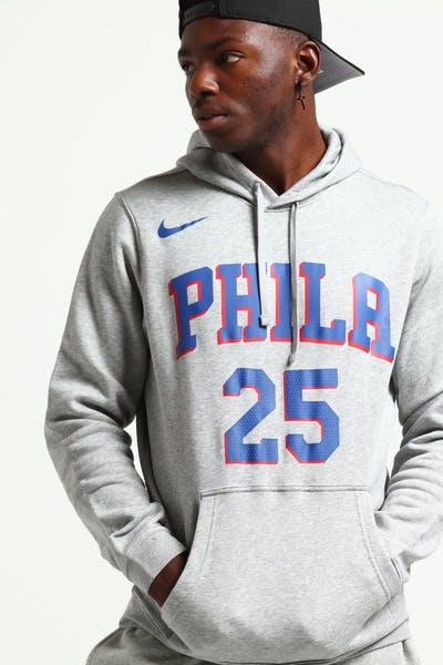 new arrival 6b617 b7dcb Nike Philadelphia 76ers Ben Simmons  25 Hood Dark Grey Heather