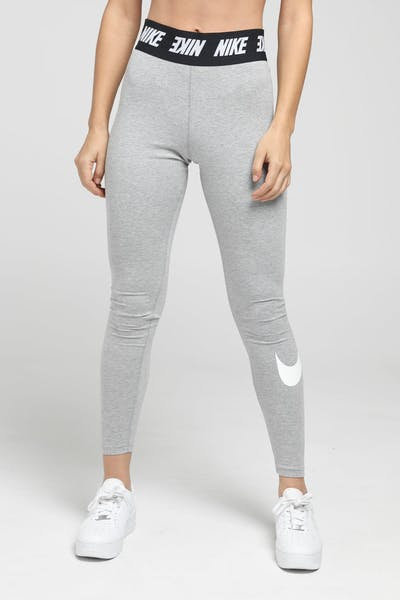 202b488554327c Nike Women's Sportswear Club Leggings Dark Heather/White ...
