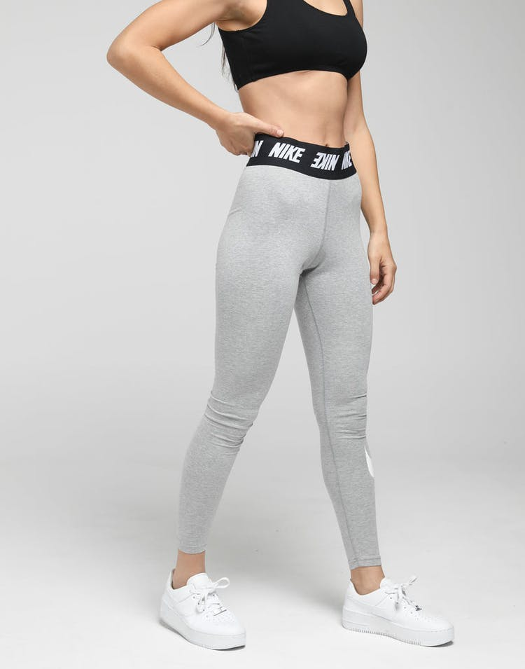 Nike Women's Sportswear Club Leggings Dark Heather/White