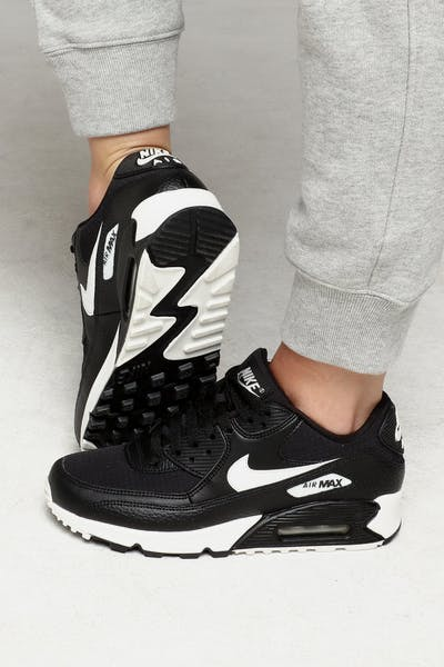 newest b7a96 458d8 Nike Women s Air Max 90 Black White Black