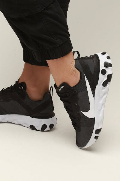 newest 43566 762d9 Nike Women s React Element 55 Black White