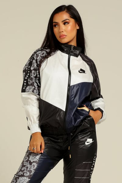 7dcbaa21c5a Nike Women s Sportswear NSW Jacket Black White Black