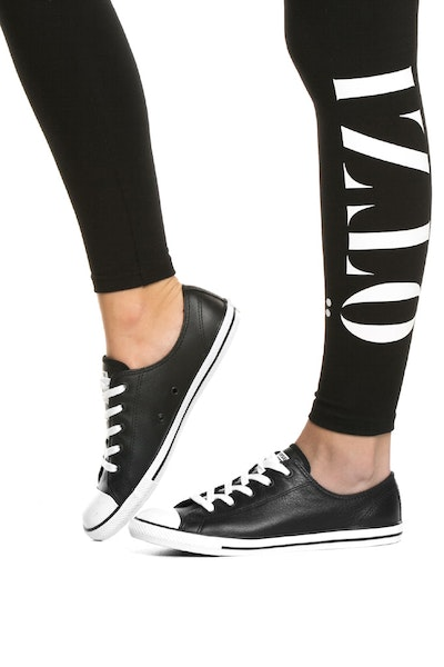 Converse Women's Dainty Leather Black/White