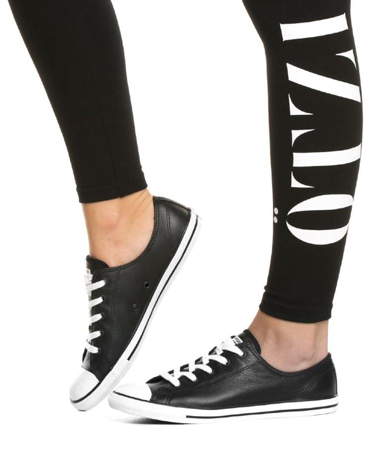 7b6cf878b857 Converse Women s Dainty Leather Black White – Culture Kings