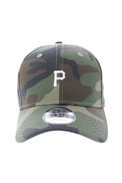 44c826cc0ef033 New Era Pittsburgh Pirates 9FORTY Strapback Woodland Camo ...