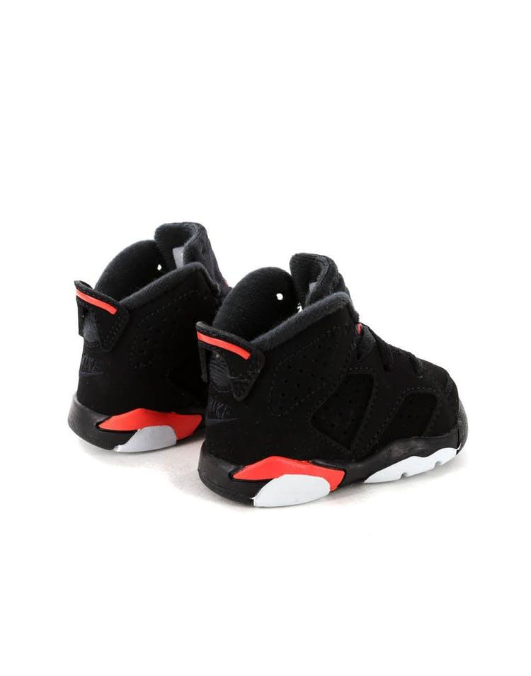 huge discount 17077 ef47c Jordan Kids Air Jordan 6 Retro (TD) Black/Infrared