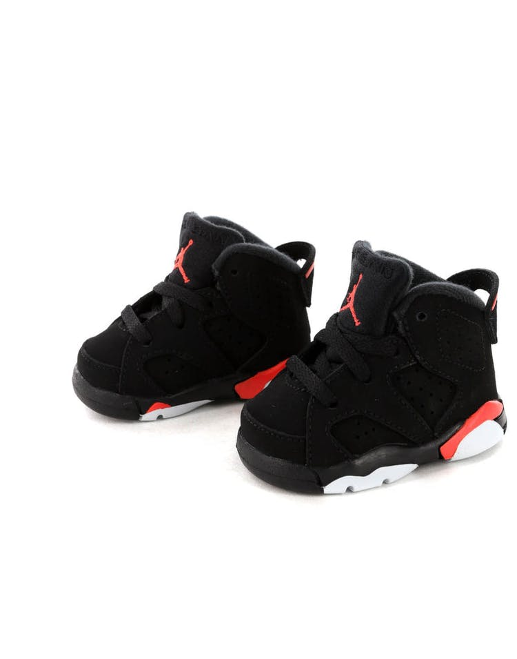 separation shoes 995f2 a30f6 Jordan Kids Air Jordan 6 Retro (TD) Black Infrared – Culture Kings