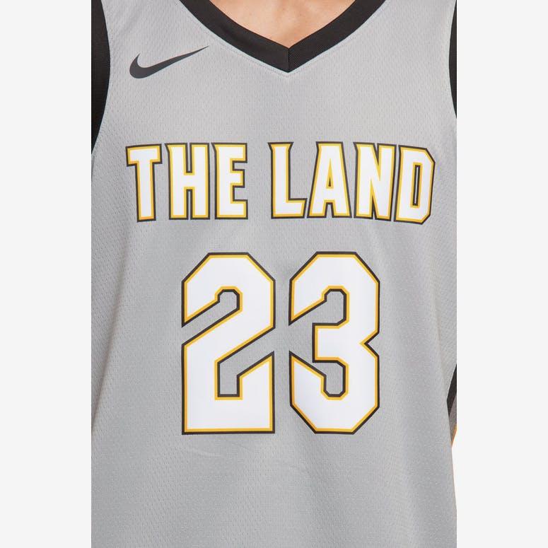 949e2fd29 Nike Cleveland Cavaliers  23 LeBron James City Edition Swingman Jersey  Silver